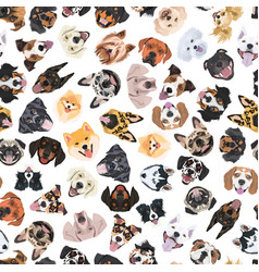 cheerful with dogs vector image
