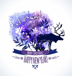 Christmas and happy new vector