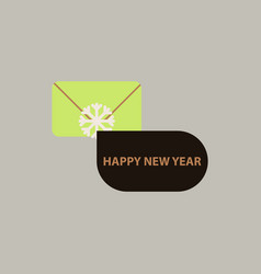 Christmas greeting envelope vector