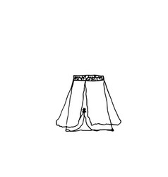 clothes line drawing of skirt vector image