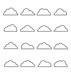 cloud line icon set vector image