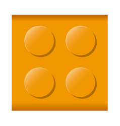 Colorful lego square shape block icon toy vector