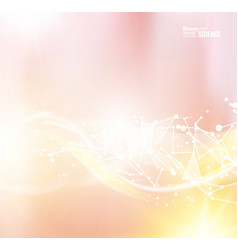 colorful light pink smooth light lines background vector image