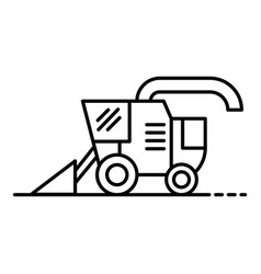 Combine harvester icon outline style vector