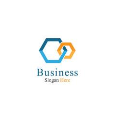 corporate logo template icon vector image