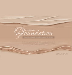 Cosmetic background with cream texture vector