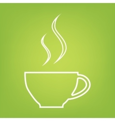 cup of coffee line icon vector image