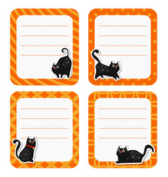 cute cards or stickers with cat cute cards or vector image