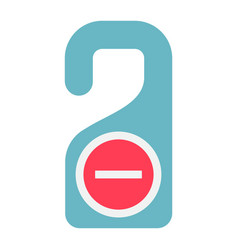 Do not disturb door hanger tag flat icon travel vector