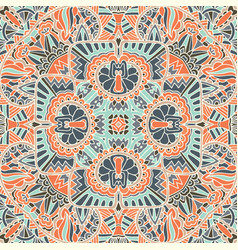 ethnic vintage seamless pattern tribal background vector image