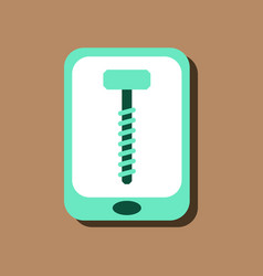 Flat icon design collection screw sign in sticker vector