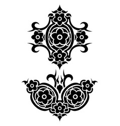 Flowers tribal tattoo set vector