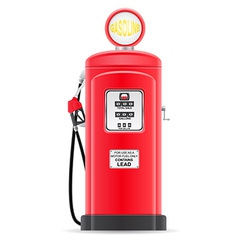 gasoline filling old retro vector image