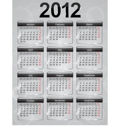 glass calendar vector image
