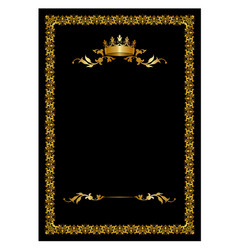 gold crown card vector image