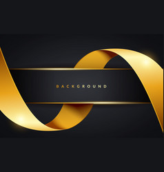 Golden ribbon background vector