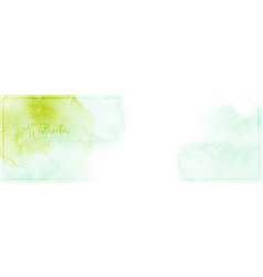 green mint watercolor colorful texture banner vector image