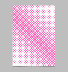 halftone dot pattern poster background template vector image