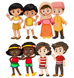 happy children from different countries vector image