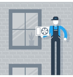 House cooling system vector