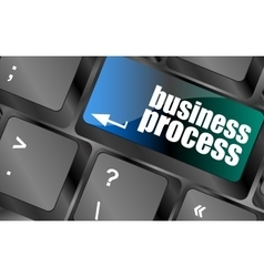 keyboard key with business process button vector image