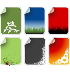 labels badges vector image