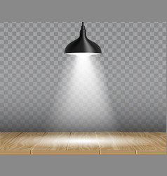 Lamp over table realistic vector