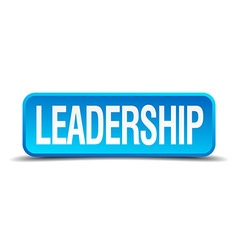 Leadership blue 3d realistic square isolated vector