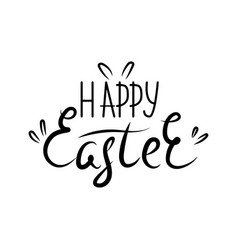lettering happy easter hand vector image