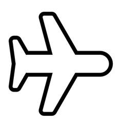 line airplane icon vector image