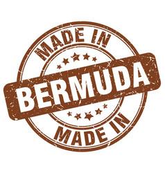 Made in bermuda brown grunge round stamp vector