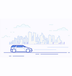 modern car in city vector image