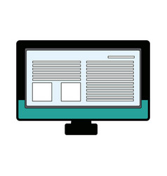 Monitor screen computer device page web vector