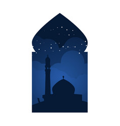 Mosque arabian window view design vector