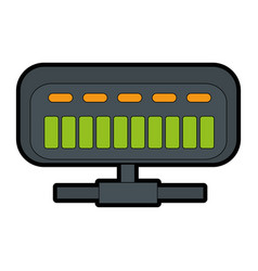 Net router isolated icon vector