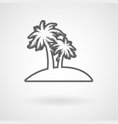 palm trees on island vector image
