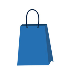 paper shopping bag gift handle element vector image