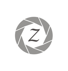 Photography service letter z vector