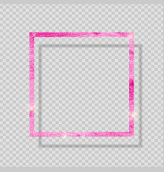 pink paint glittering textured frame on vector image
