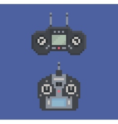 pixel art style of remote control radio controller vector image