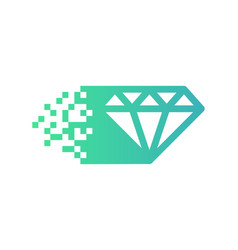 Pixel diamond logo icon design vector