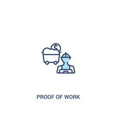 Prowork concept 2 colored icon simple line vector