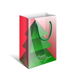 Red Paper Bag with a picture vector image