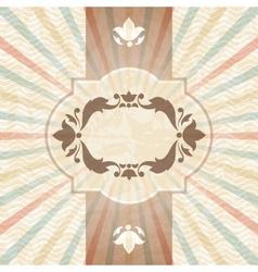 Retro background with vintage floral ornate frame vector image