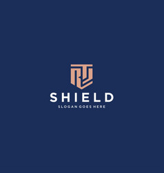 Rs shield logo vector