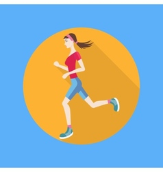 Running woman vector image