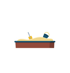 sandbox and bucket with shovel playground vector image