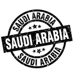 Saudi arabia black round grunge stamp vector