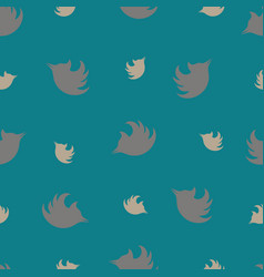 Seamless pattern with silhouettes of woodpeckers vector