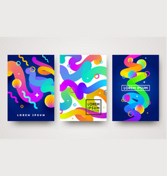 set of abstract multicolored vector image